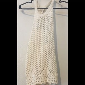 NEW w/out tags: Cream Crochet Top
